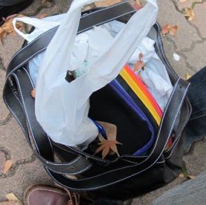 木枯らしのバッグ