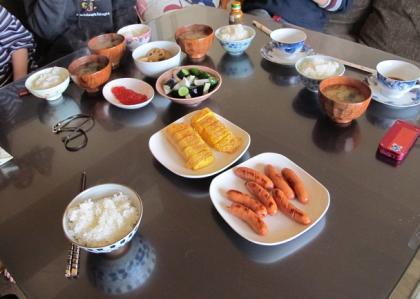 Tちゃんの朝ご飯