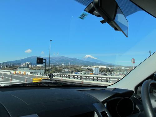 車中から富士山