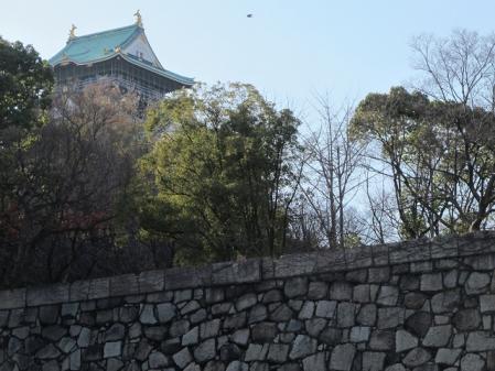 大阪城 青屋門と天守閣 千鳥