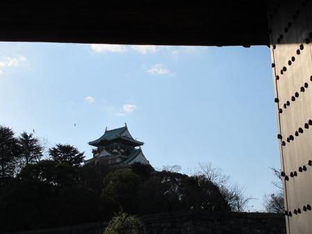 大阪城 青屋門より天守閣