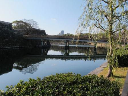 大阪城内堀 極楽橋