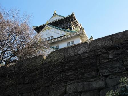 山里丸より見上げる大阪城天守閣