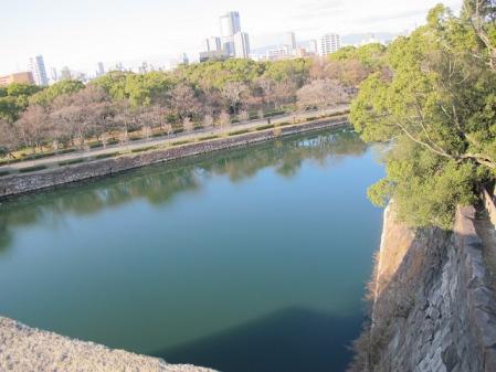 大阪城 山里口出桝形より内堀