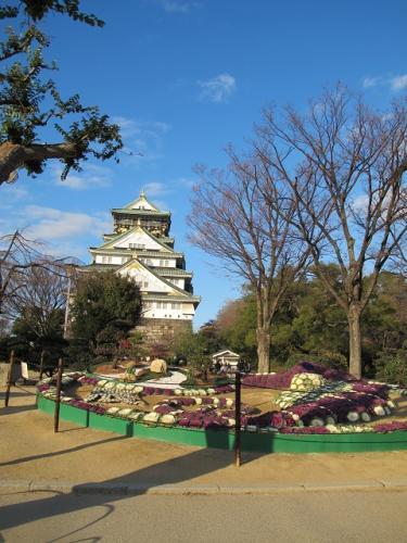 大阪城天守閣とタツノオトシゴ