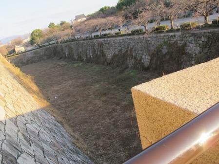 大阪城 桜門空堀