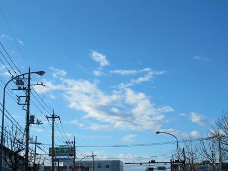 2012年1月7日の空