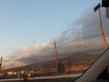 富士山は見えなかった