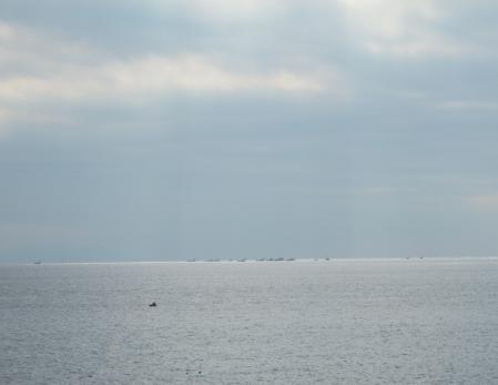 湘南の海と船
