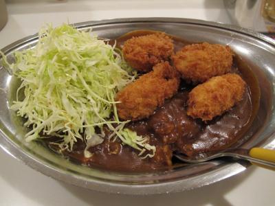 広島産牡蠣フライカレー