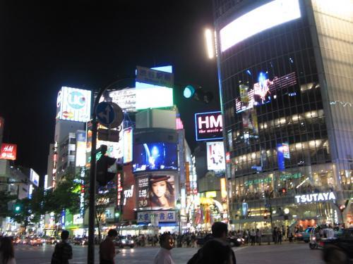 渋谷スクランブル交差点(夜)