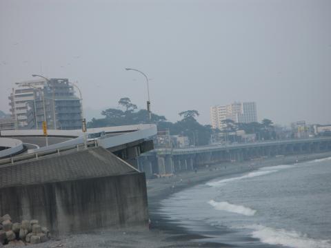 湘南の海 東京方面側