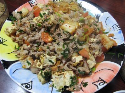 豚キム豆腐トマト