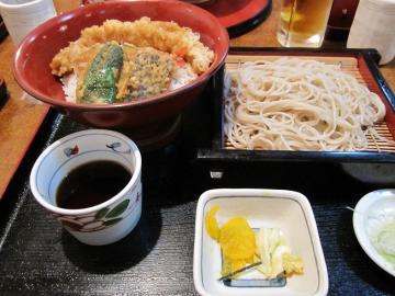 アナゴ天丼そばセット