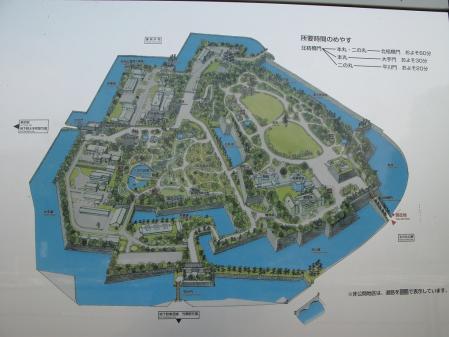 東御苑地図