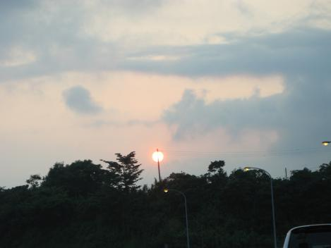 串刺しの夕日