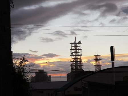 台風15号後の夕焼け