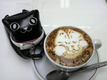 猫カプチーノ