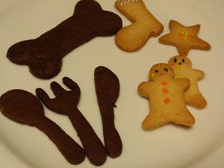 フォークとナイフのクッキー