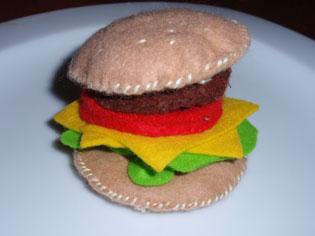 フェルトハンバーガー