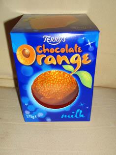オレンジチョコ箱