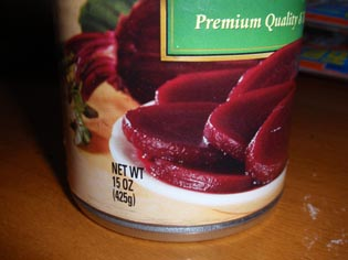 ビーツの缶詰