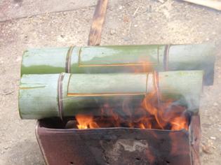 竹燃えてます2