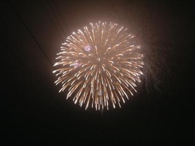 2009.08.04 庄川花火(三女子分譲地より撮影)