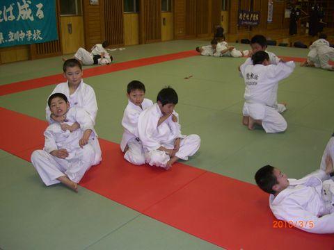 絞め技の練習