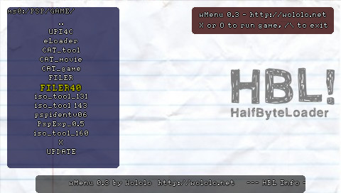 PSP Half Byte Loader r97 and wMenu 0.3