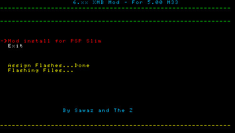 PSP CFW 5.00 TZS-6 (公式FW6.31の機能を擬似)