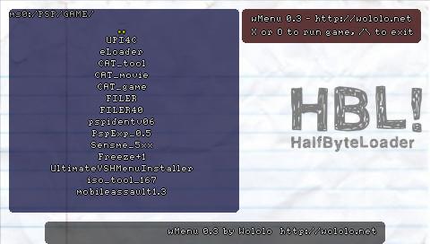 PSP Half Byte Loader r100