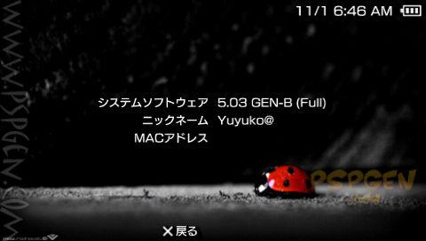 PSP CFW 5.03GEN-B for HEN リリースは延期