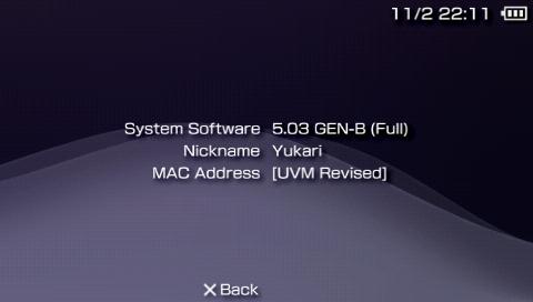 PSP CFW 5.03GEN-B for HEN 導入