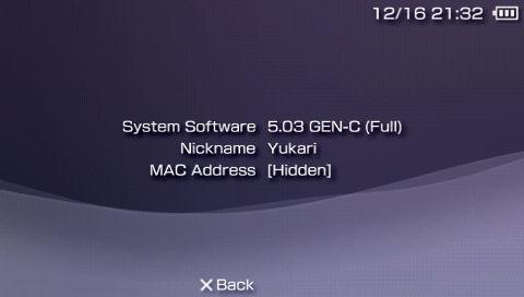 PSP CFW 5.03GEN-C for HEN 導入