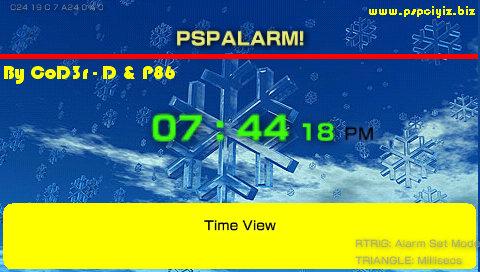 PSPAlarm v3.0 Ultra PSPが目覚まし時計になる!)