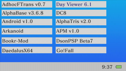 PSP Download Manager v0.0.1 (直接自作アプリ等がダウンロードできる)