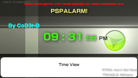 PSPAlarm 3.0 Ultra-2 (PSPが目覚まし時計になる!)