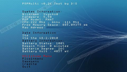 PSP PSPMulti v0.26 (多機能アプリ)