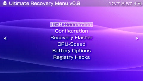 PSP Ultimate Recovery Menu