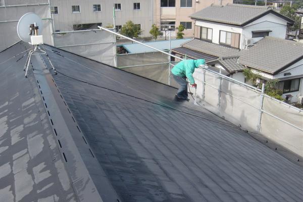 東本郷地区のアパート外部塗装工事2