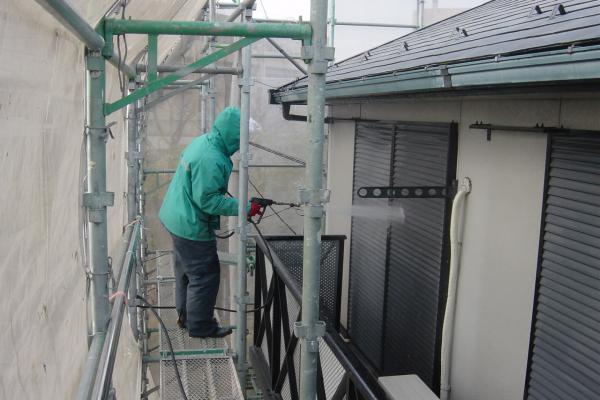 東本郷地区のアパート外部塗装工事3
