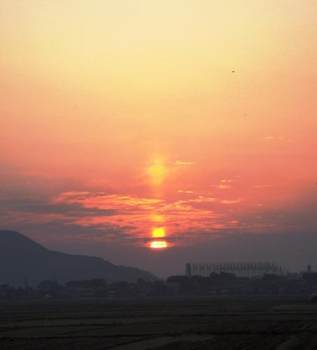 美しい秋の夕日1