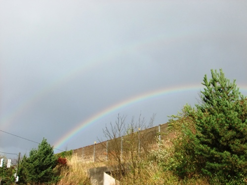 1-5帰り道ダブルの虹