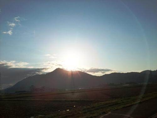 1-4夕方の弥彦山