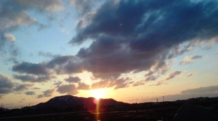 3-6夕方の角田山