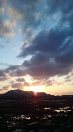 3-7夕方の角田山