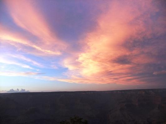 Gキャニオン茜色の雲