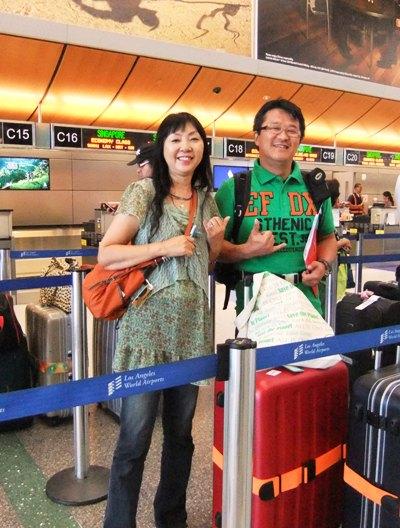 ロサンゼルス空港で帰国の直前