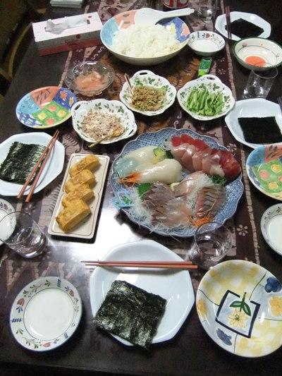 4-7練習後の夕食